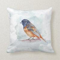 Bird Watercolor Cushion