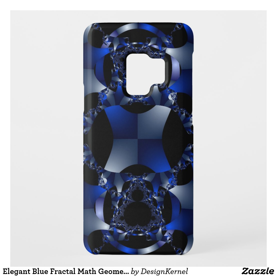 Elegant Blue Fractal Math Geometric Pattern Case-Mate Samsung Galaxy S9 Case