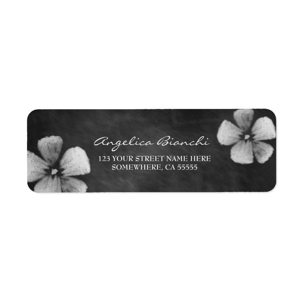 Flowers Address Label