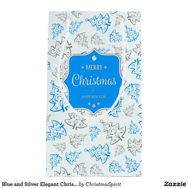 Elegant Christmas Trees Gift Bag