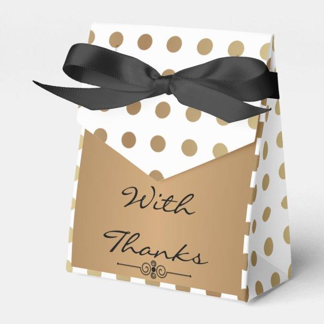 Elegant Gold & shades of Grey Favour Box