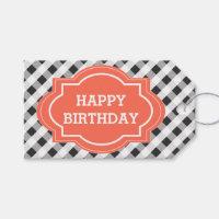 Elegant Personalized Happy Birthday Gift Tags