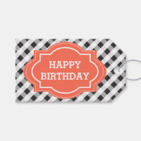 Elegant Personalized Happy Birthday Gift Tags
