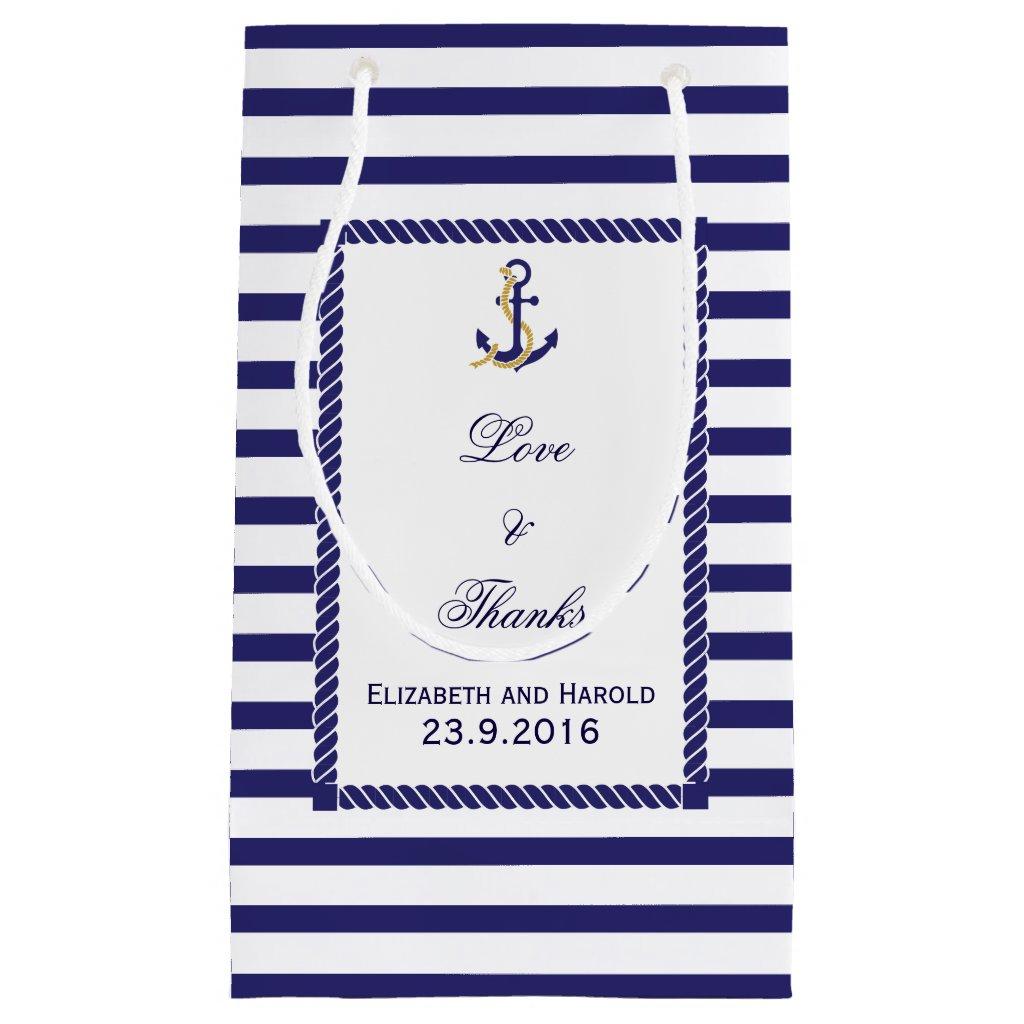 Nautical Wedding Gift Bag