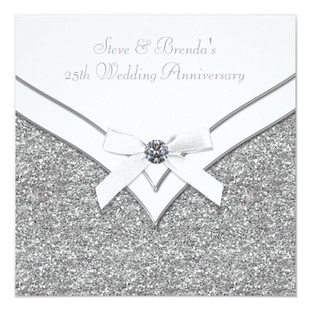 Elegant Silver 25th Wedding Anniversary Party