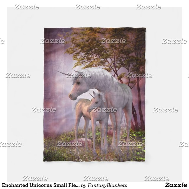 Enchanted Unicorns Small Fleece Blanket