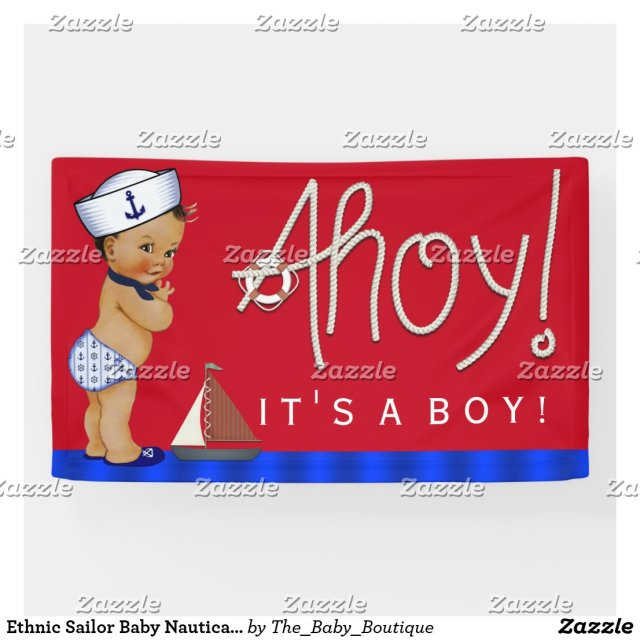 Ethnic Sailor Baby Nautical Baby Shower