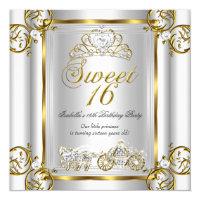 Fairytale Sweet 16 16th Birthday Gold Silver 3 Card