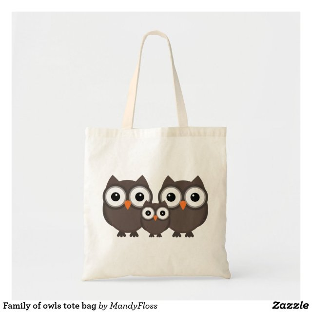 Family of owls tote bag