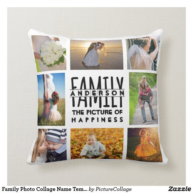 Family Photo Collage Cushion
