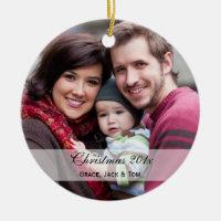 Family Photo Ornaments