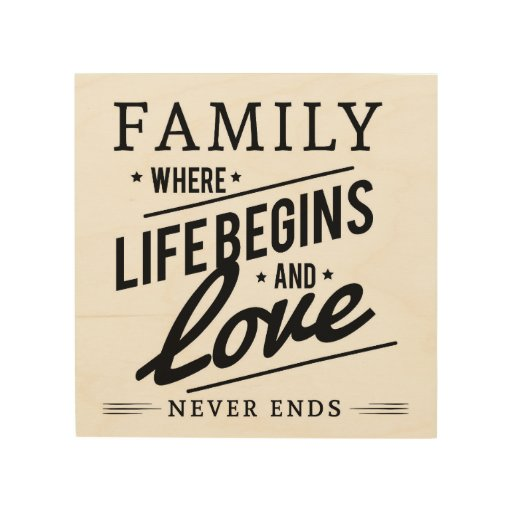 """Download FAMILY WHERE LIFE BEGINS LOVE NEVER ENDS 8x8"""" WOOD Wood ..."""