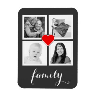 Family with Four Photos and Heart