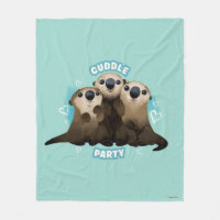 Otters Cuddle Party Fleece Blanket