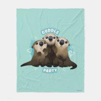 Otters Cuddle Party Fleece Blanket