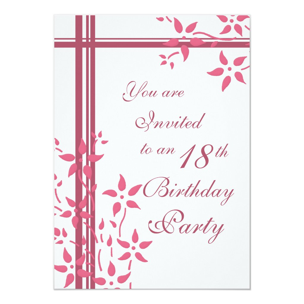 18th Birthday Party invitations | Personalised Birthday Invitations