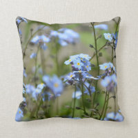 Forget-me-not Blue Flowers Pillow