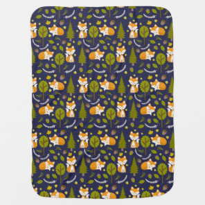 Fox Baby Blanket - Boy