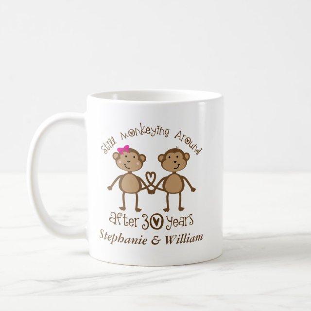 Funny 30th Wedding Anniversary His Hers Mugs