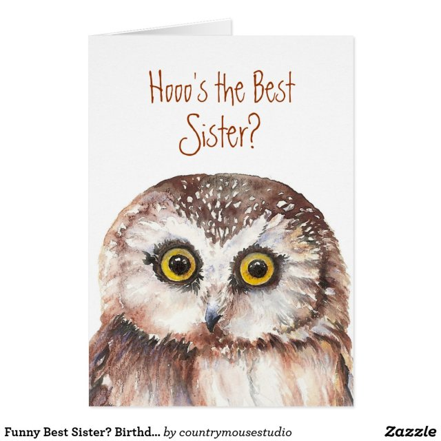 Funny Best Sister Birthday Card
