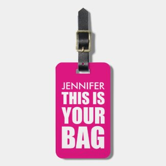 FUNNY PERSONALIZED ATTENTION LUGGAGE TAG
