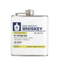 Prescription Whiskey Flask
