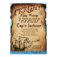 GC Pirate Birthday Party Invitation