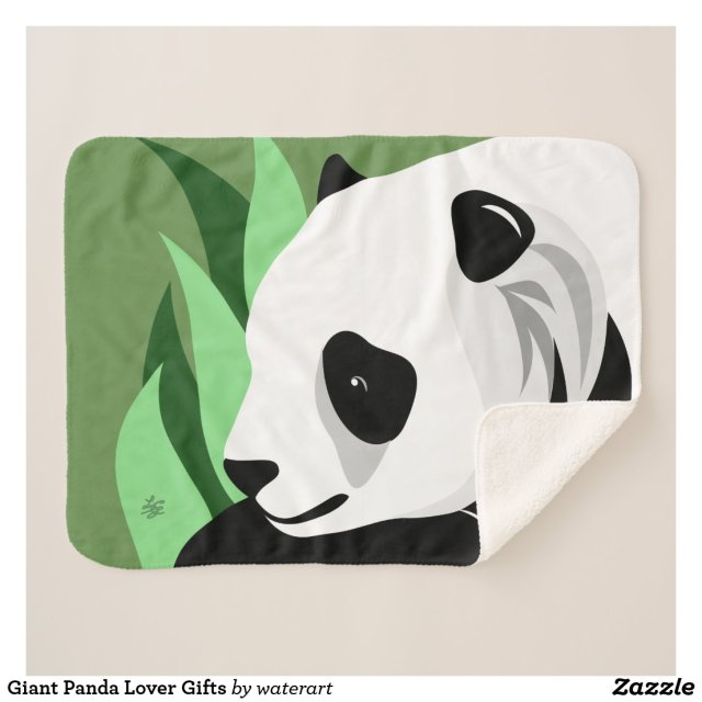 Giant Panda Lover Gifts Sherpa Blanket