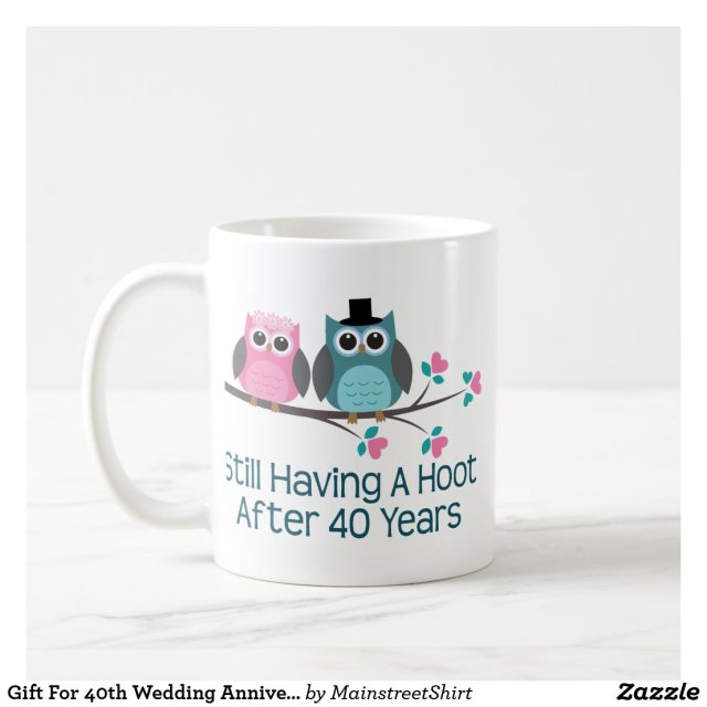 40th Wedding Anniversary Mug