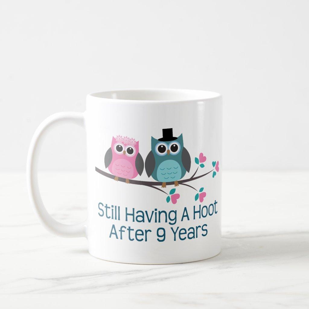 Gift For 9th Wedding Anniversary Hoot