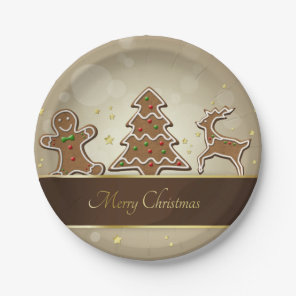 Gingerbread Cookies - Paper Plate