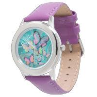 Girly Butterfly Wrist Watch