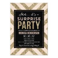 Glamorous Shimmer   Surprise Party Invitation
