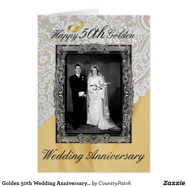 Golden 50th Wedding Anniversary Elegant