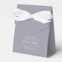 Lilac Gray Favour Box