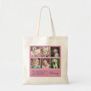 Grandma's Blessings Photo Collage Tote Bag