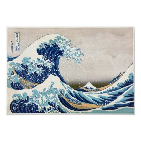 Great Wave Hokusai Poster