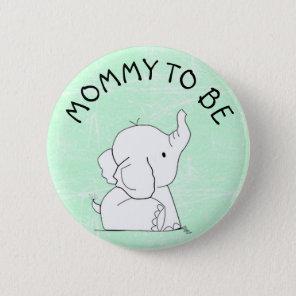 Green Elephant Baby Shower Pin