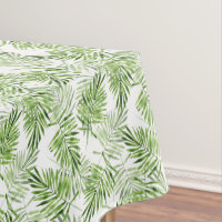 Green Palm Leaves Tablecloth