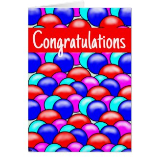Greeting Card balloon design- Congratulations