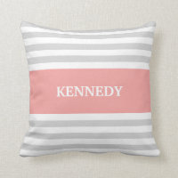 Stripes Monogram Pillow