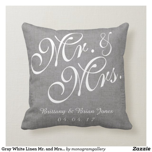 Mr and Mrs Wedding Pillow