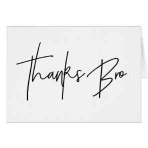 Groomsman Thank You Card Thanks Bro Card