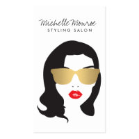 Hair Salon, Stylist, Beauty Girl Business Card