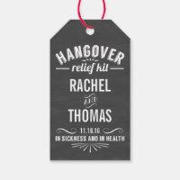 Hangover Relief Kit | Chalkboard Wedding Favor Gift Tags