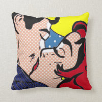 Happily Ever After Pop Art Throw Pillow
