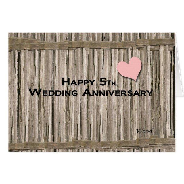 Happy 5th. Wedding Anniversary Card