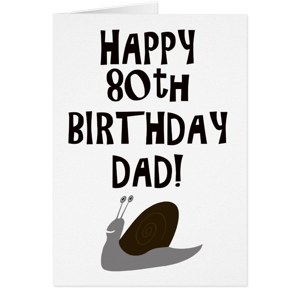 Happy 80th Birthday Dad Card