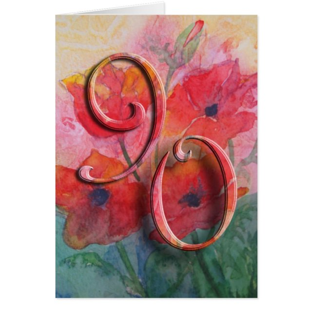 Happy 90th Birthday Greeting Card