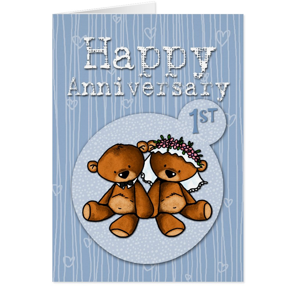 happy anniversary bears - 1 year card